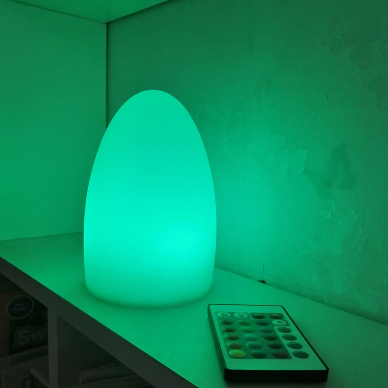 Skybesstech D10*H15cm RGBW LED Egg Light Glowing Table Lamp Night Light Remote control SK-LF04 for Sample Promotion 4pcs/lot enlarge