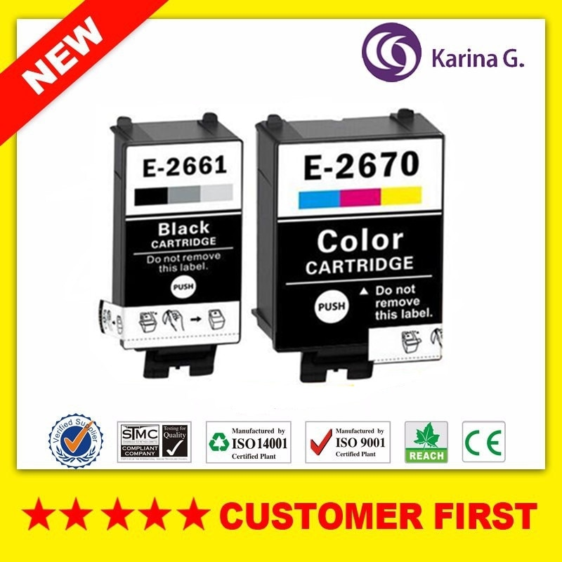 Compatible ink cartridge for T2661 T2670 suit for EPSON WorkForce WF-100W for European market