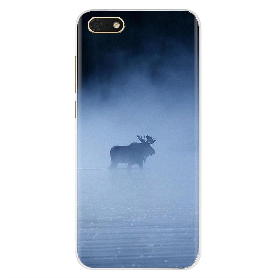 Para Samsung Galaxy J1 J2 J3 J4 J5 J6 J7 J8 Plus 2018 Prime 2015 2016 2017 animación funda de teléfono de silicona Animal Alaska Bull alce