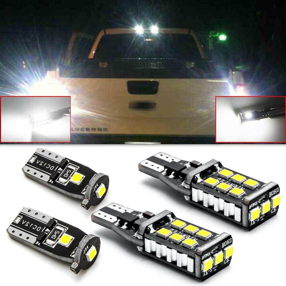 4 stücke high power LED Weiß leuchtmittel LED Umge Backup Lizenz Platte Licht Kit für Chevy Silverado 1500 2014 -2020