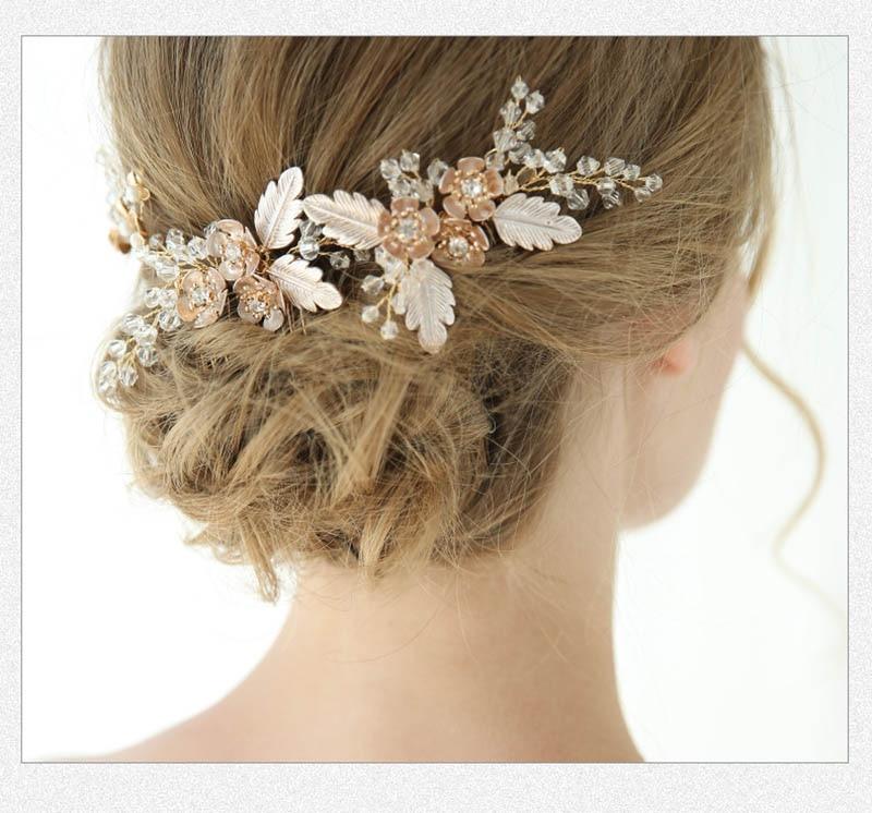 Accesorios De boda hechos a mano, joyería Original, Tiara nupcial, peine De...