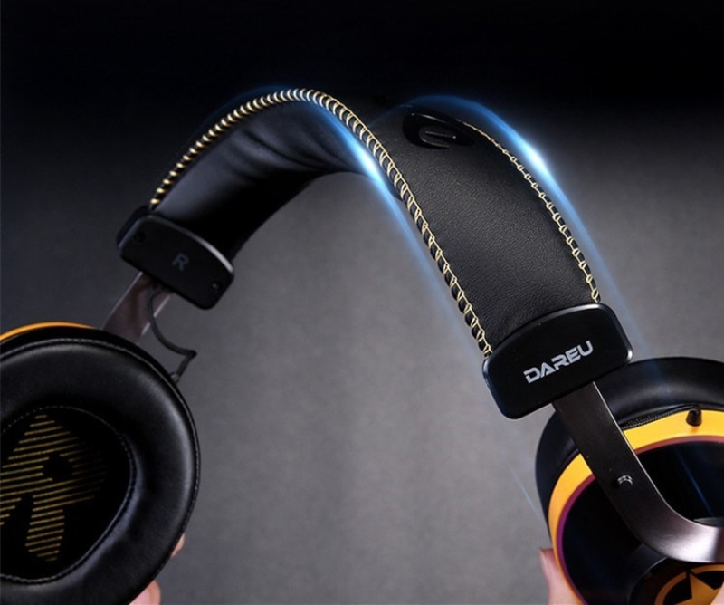 DAREU EH745 gaming headset esports 7.1 channel USB mobile phone dedicated RGB light headphone with mic enlarge