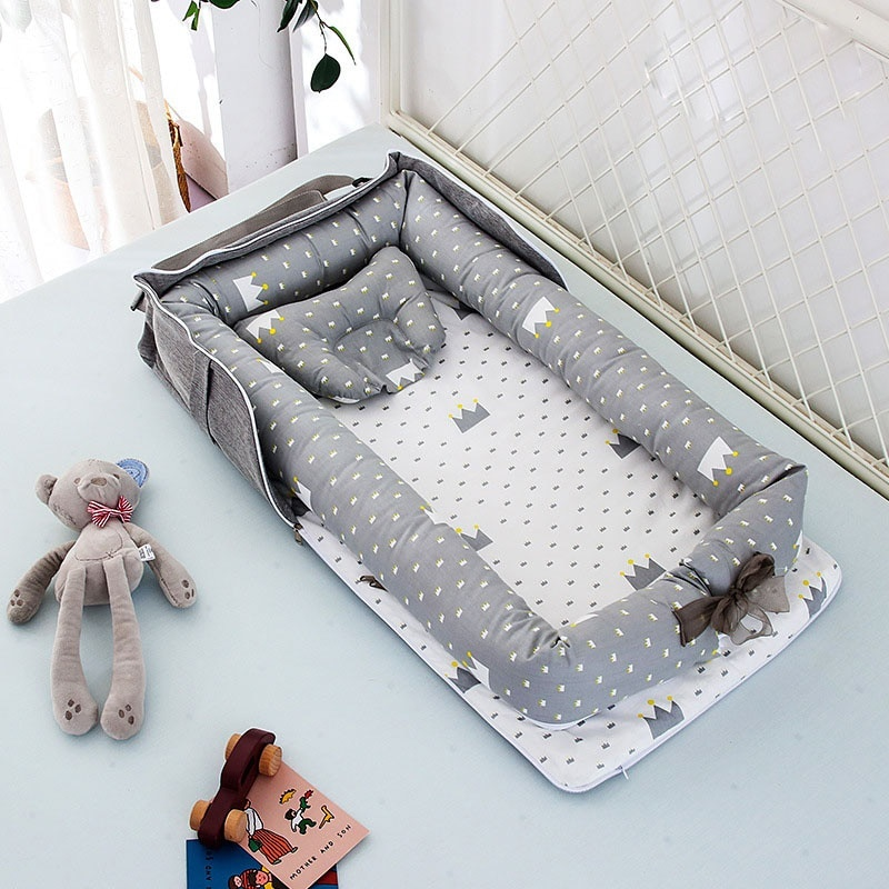 Cribs For The Baby Portable Baby Nest Bed for Boys Girls Travel Bed Infant Cotton Cradle Crib Baby Bassinet Newborn Bed
