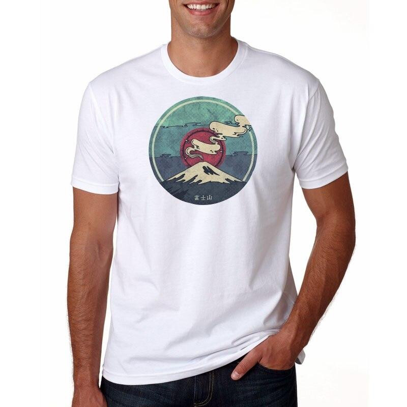 2019  New  hot  men's summer  men's casual short sleeved T-shirt Fuji Racerback T-shirt