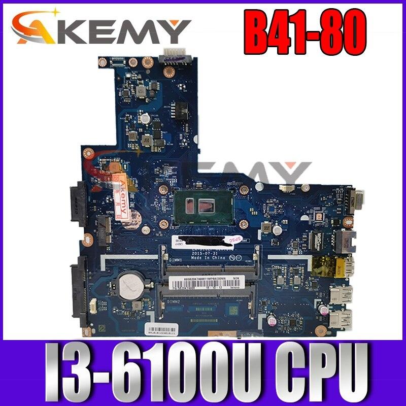 ينطبق على B41-80 دفتر اللوحة الأم رقم I3-6100U UMA LA-D102P FRU 5B20K57289 5B20K57292