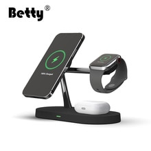 Betty Wireless Charger station magsafing fast 5 in 1 smart Magnetic Holder for phone watch headset i