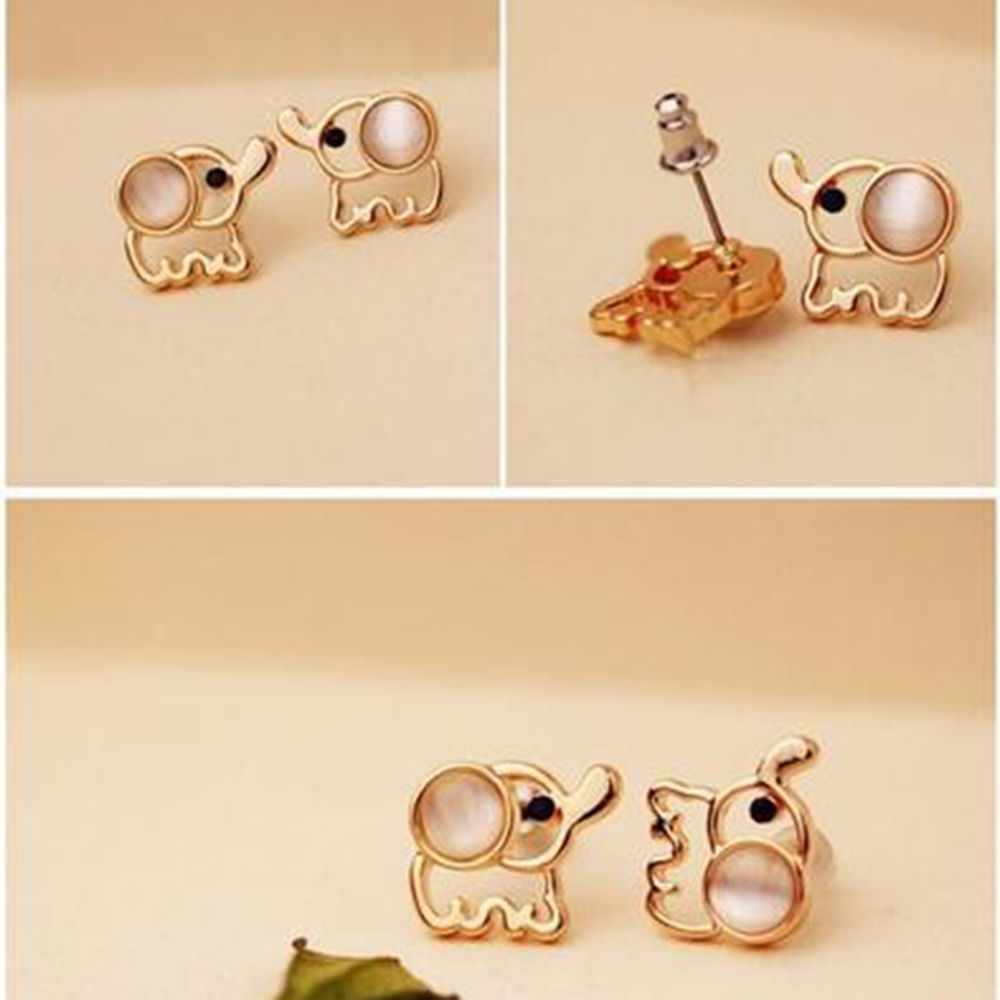 OPPOHERE 1 Pair Fashion Women Ear Jewelry Elephant Cute Girl Animal New Gift Handmade Polished Girl