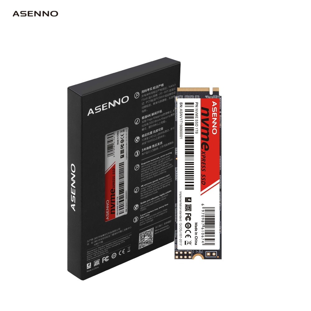 ASENNO M.2 NVME SSD 128GB 256GB 512GB 1 تيرا بايت 2 تيرا بايت 2280 PCIE محركات الأقراص الصلبة الداخلية القرص الصلب لأجهزة الكمبيوتر المحمول سطح المكتب Asus MSI X79