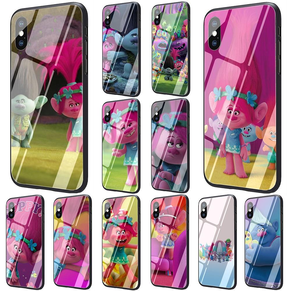 EWAU Trolle Mohn Gehärtetem Glas Telefon Abdeckung Fall Für iPhone SE 2020 11 Pro 6 6S Plus 7 8 plus X XS XR XS Max