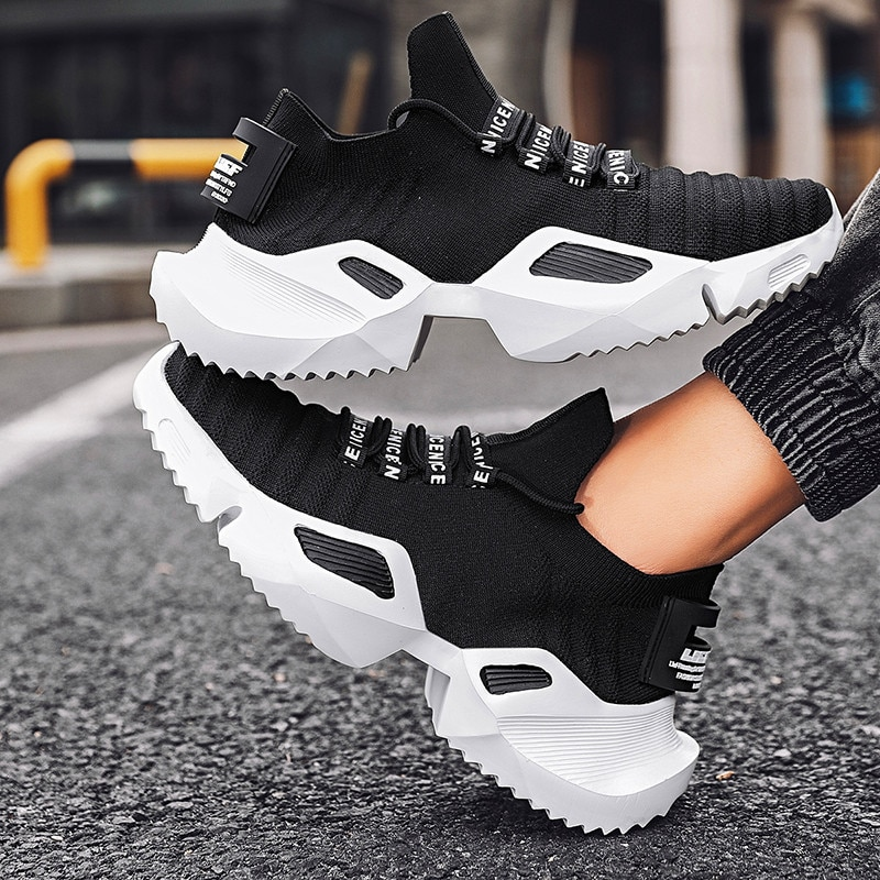 Men's Casual Shoes Summer fashion breathable lace-up plus size shoes rubber bottom outdoor leisure sports shoes Zapatos Hombre