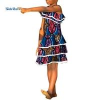 2021 new fashion girls dresses bazin riche african print ankara dresses for lovely children african children clothing wyt670