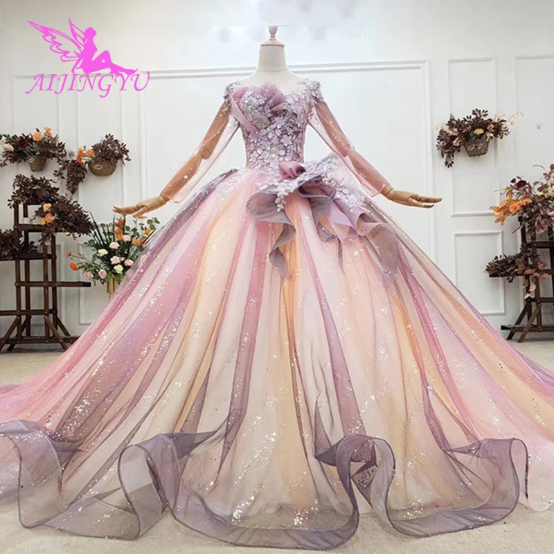 AIJINGYU-فساتين أميرة منتفخة ، لون سادة ، وهم حقيقي ، الولايات المتحدة الأمريكية ، لبنان ، عتيق ، لحفلات الزفاف