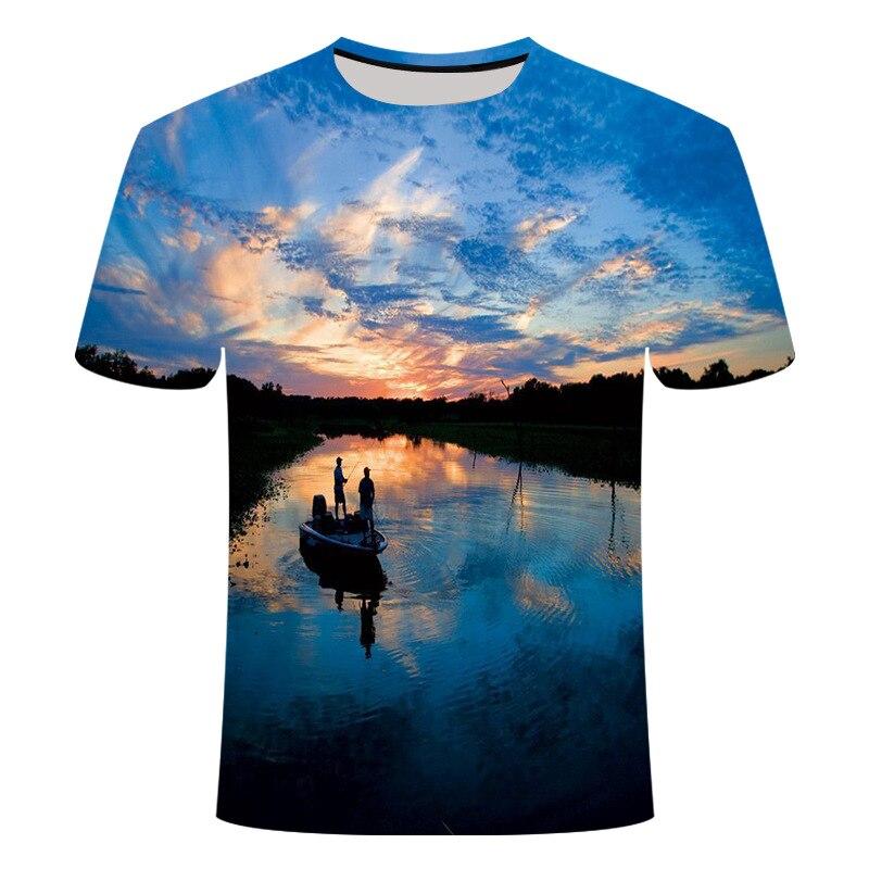 Camiseta holgada con estampado 3D para hombre y mujer, camiseta de manga...