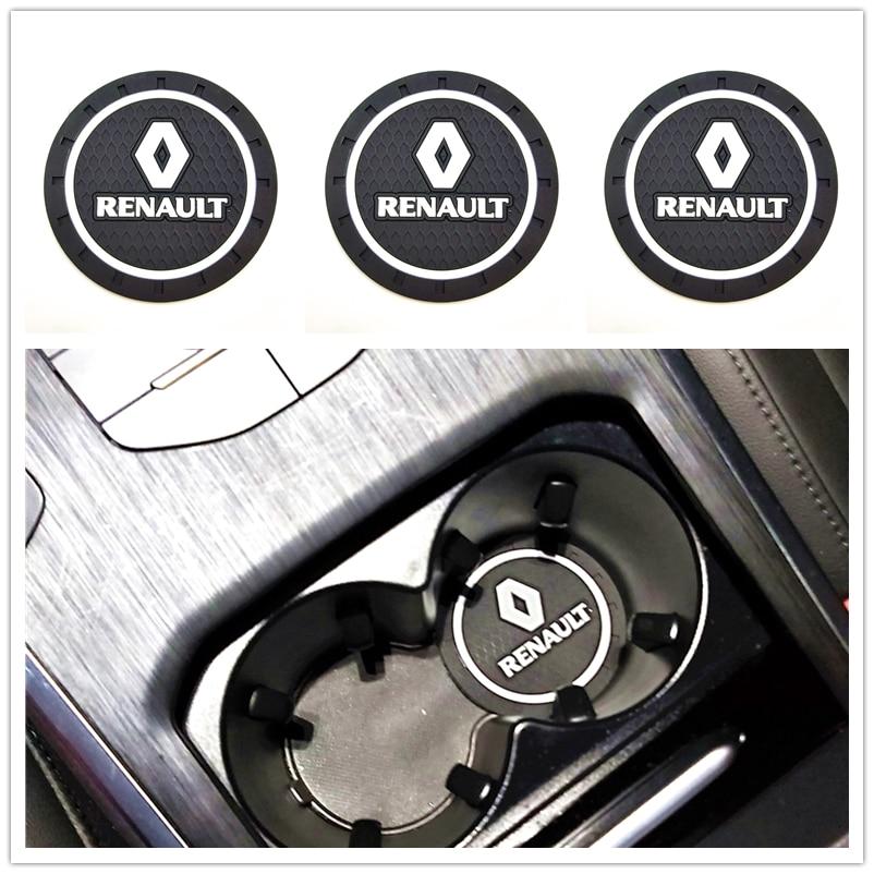 3D Fashoin Auto coaster matte Für Renault Megane 2 3 Duster Logan Clio Laguna 2 Captur Motor Auto Styling Zubehör autos