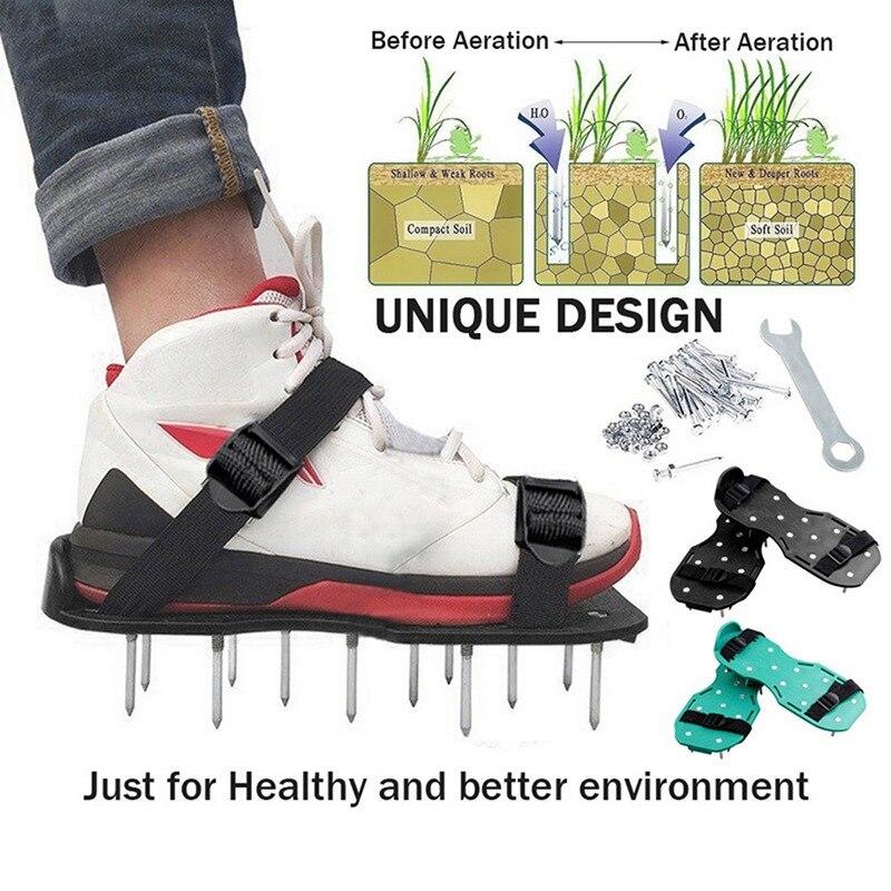 Lawn Aerator Shoes Gardening Walking Lawn Aerator Sandals Garden Grass Loosening Tools Grass Spikes