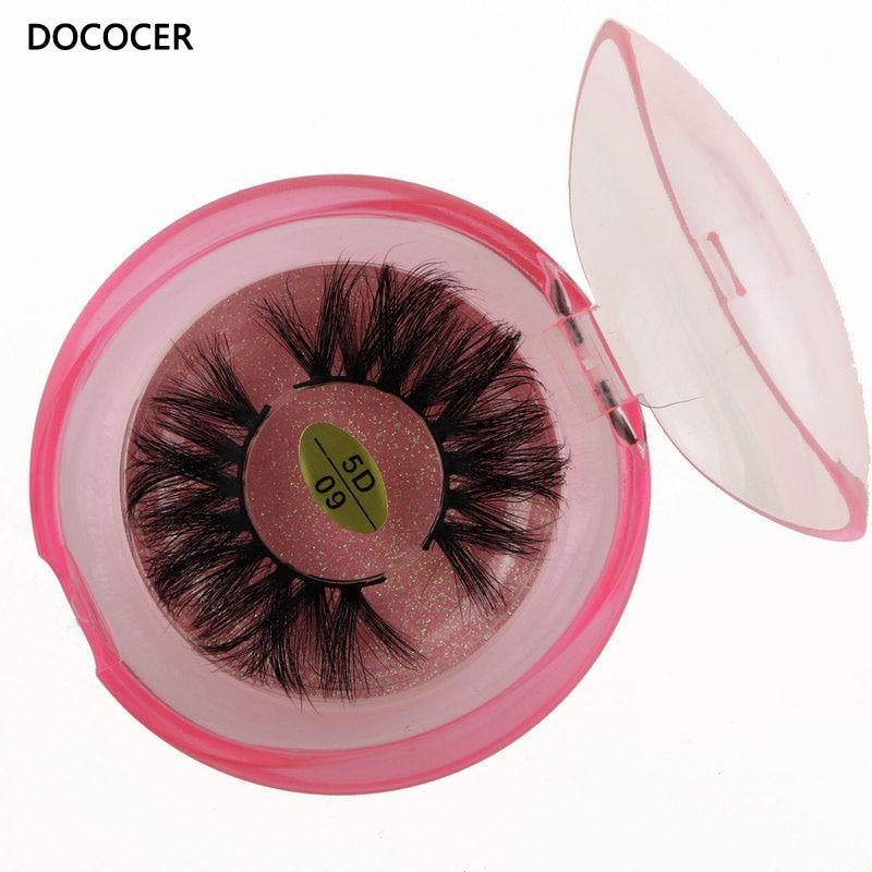 20mm faux cils en gros bande épaisse cils 3D vison cils emballage personnalisé étiquette maquillage dramatique longs cils de vison 5D09
