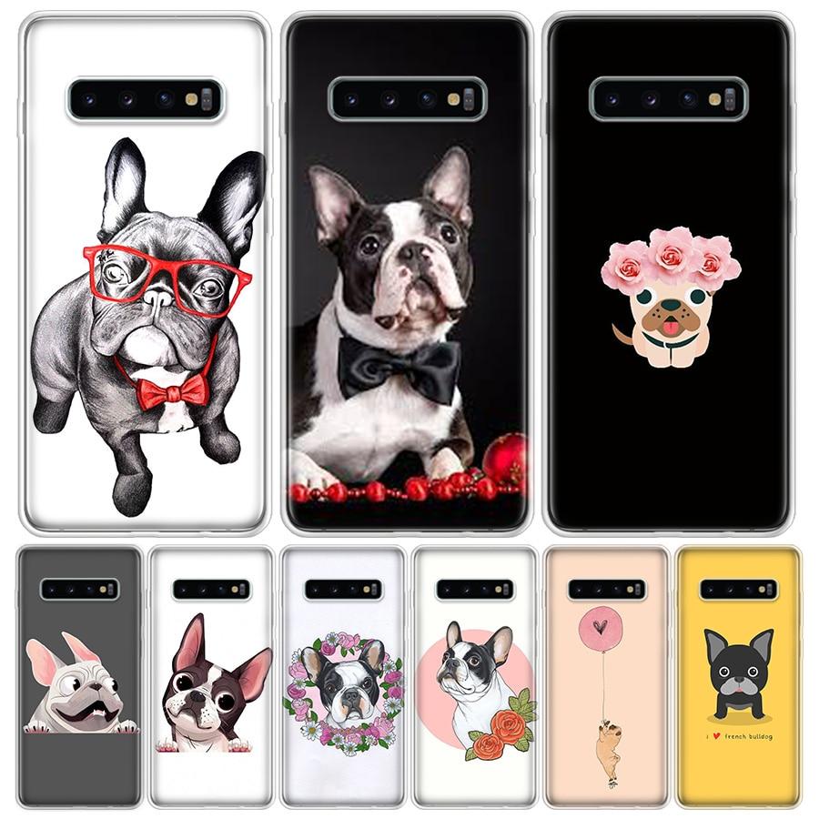 Bulldog Francés, funda para teléfono móvil para Samsung Galaxy S20 Ultra Plus S6 S7 S8 S9 S10 NOTE8 NOTE9 NOTE10 J4 J6 Plus Edge Lite