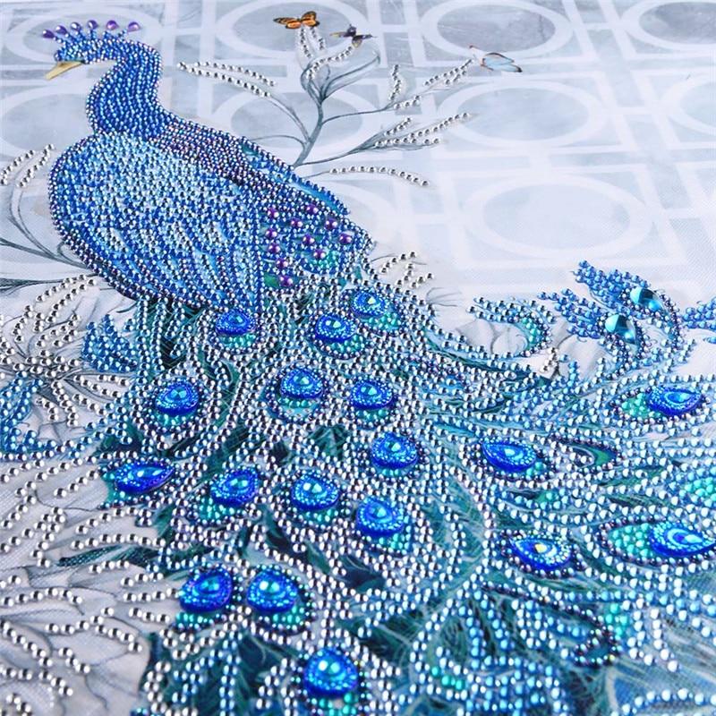 DIY Diamonds Embroidery Diamond Mosaic New Peacock Soul Love Round Diamond Painting Cross Stitch Kits Home Decoration