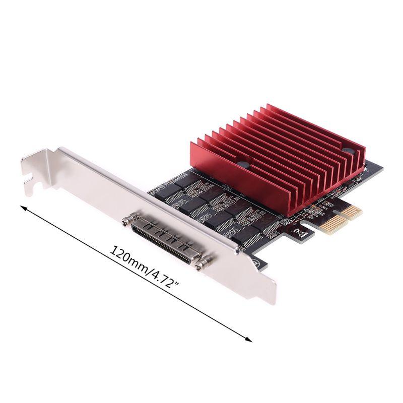 8 منفذ PCIE إلى DB9 RS232 المسلسل الناهض بطاقة تحكم اكسبرس تمديد بطاقات محول محول TXB107