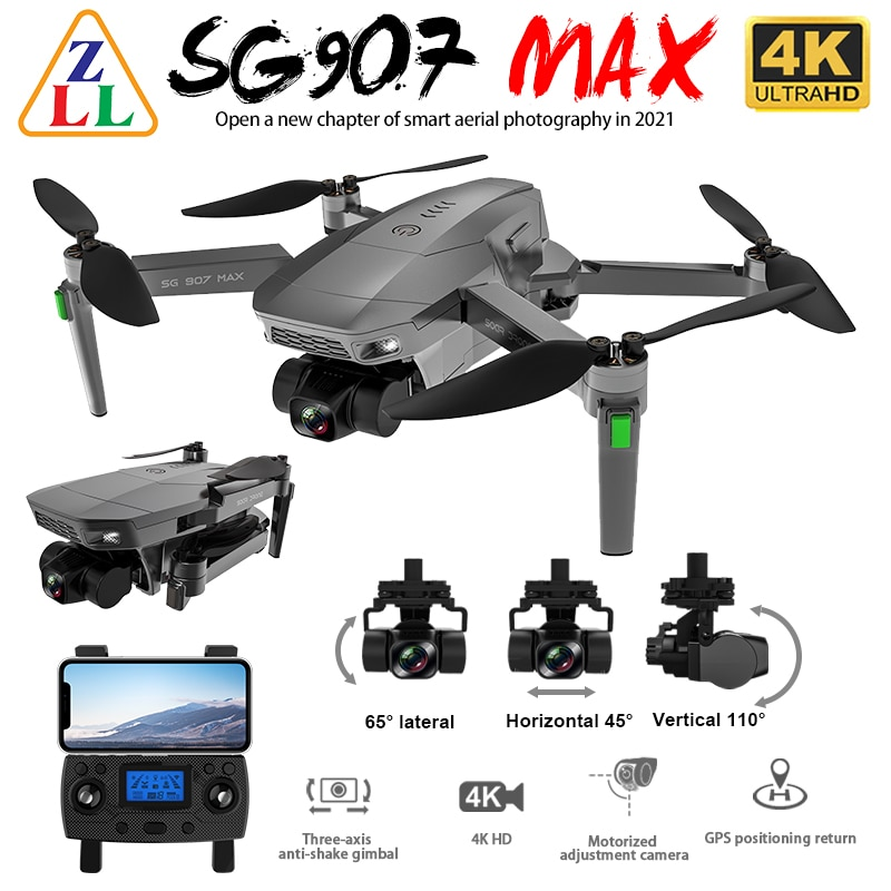 ZLL SG907 MAX GPS Drone 4K Camera 5G FPV WiFi With 3-Axis Gimbal ESC 25 Minutes Flight Brushless RC Quadcopter Profesional Dron