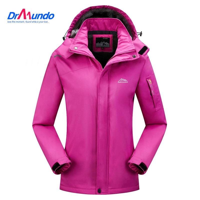 2021 Женская лыжная куртка, водонепроницаемая флисовая походная куртка, парка с капюшоном, теплое пальто, зимние куртки для улицы, зимняя Лыжн...