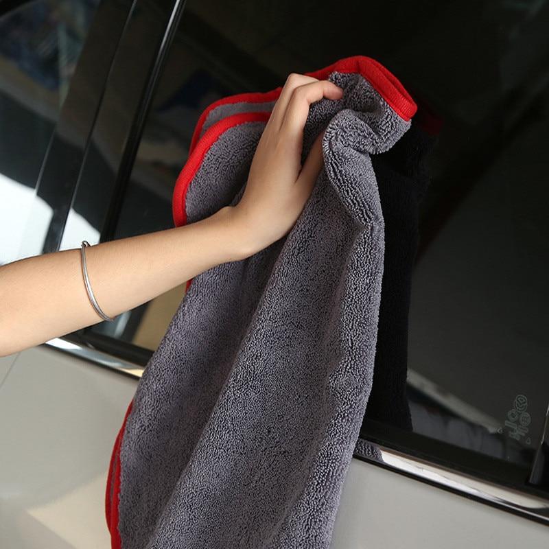 Paño de secado de microfibra de larga torsión de 40x60cm, toalla súper absorbente sin remolino para pintura de ventanas, alto rendimiento de teñido