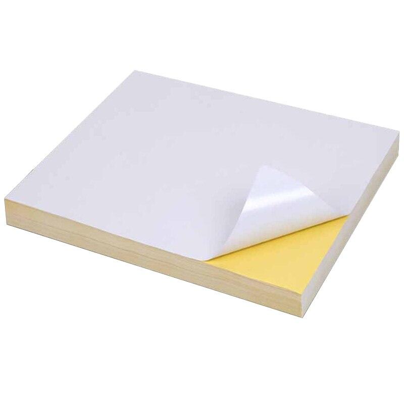 Самоклеящаяся бумага для печати A4, 50 листов, белый струйный лазерный принтер, бумажная наклейка, этикетка, глянцевая матовая бумага, целлюло...