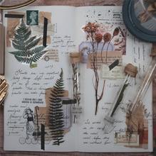 Vintage Sonbahar Bitkiler Çiçekler Bullet Dergisi dekoratif Sticker Etiket Günlüğü Kırtasiye Japon Albümü Etiket Gevreği Scrapbooking