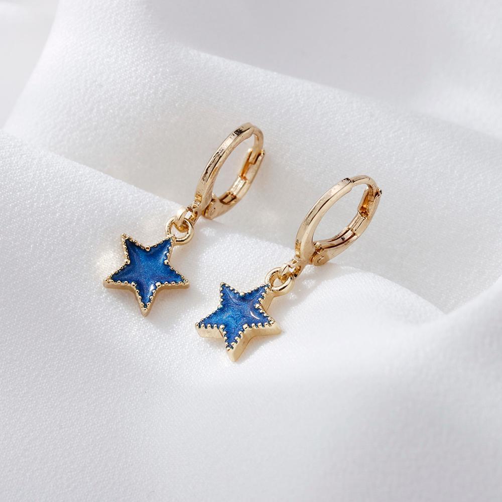 Delicados pendientes Luna estrella para mujer moda coreana pendientes gota joyería para fiesta de compromiso regalos aros pendientes