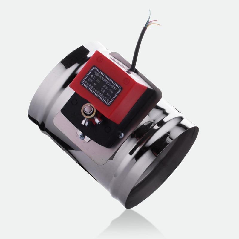 100-200mm 24v 14nm válvula do amortecedor de ar duto de ar elétrico motorizado amortecedor para o atuador da válvula 24v 14nm da tubulação de ventilação