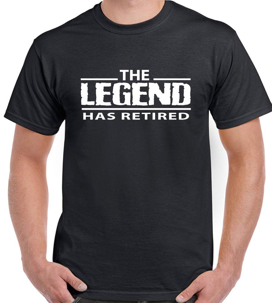 The Legend – T-Shirt homme retraité, amusant, 65e 68e anniversaire