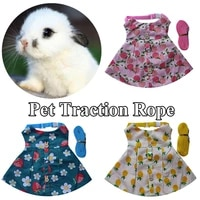 rabbit holiday costume cute harness leash set small animals accessory rabbit skirts pet leashes pet supplies s m