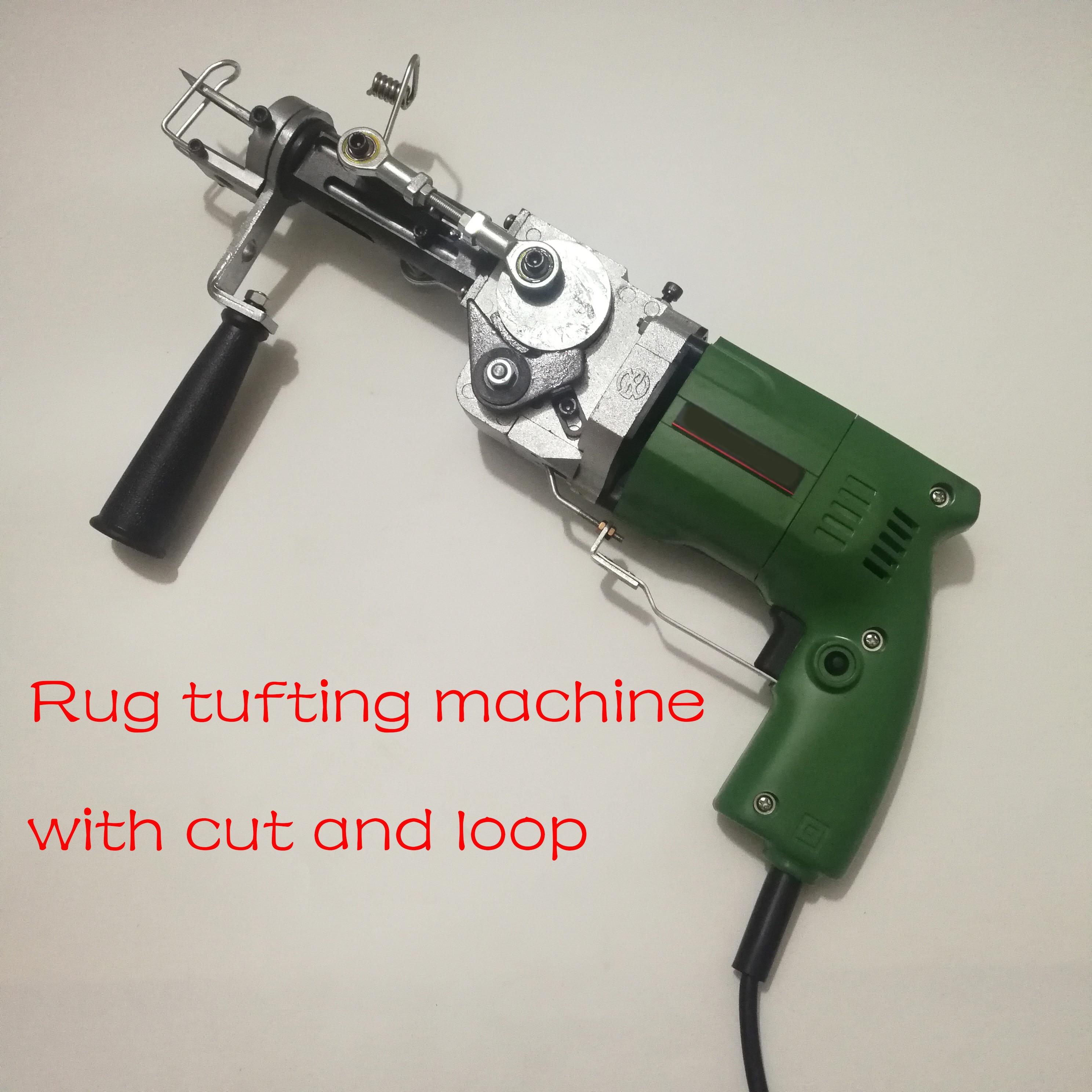 ZQ-II سجادة كهربائية آلة درفلة الجدار المفروشات اليد درفلة بندقية مع قطع وحلقة