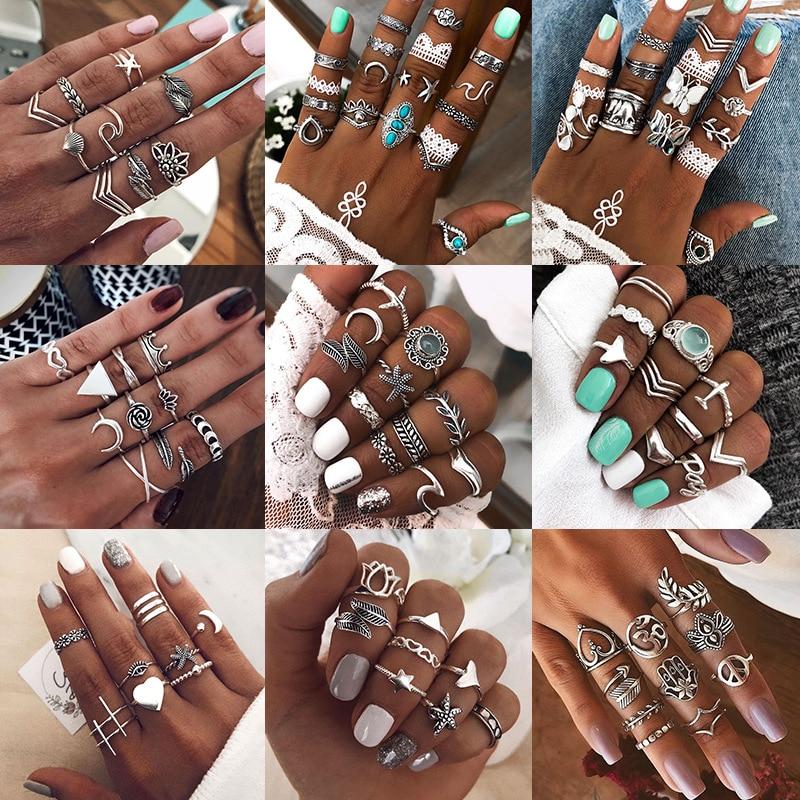 Europejski i amerykański pierścień uszczelniający w stylu Retro w stylu ludowym przesadnie zapakowany pierścień połączeniowy dla kobiet