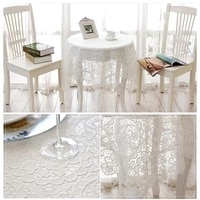 1pc white full lace tablecloth romantic households cover dust proof spread european style table decoration wedding party