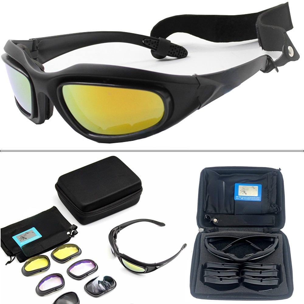 Daisy Polarized Tactical Sunglasses Men Airsoft Hunting Shooting Glasses UV400 Protection Military D