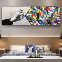 abstract street graffiti art pop art poster canvas painting print on wall art picture for living room home decor frameless