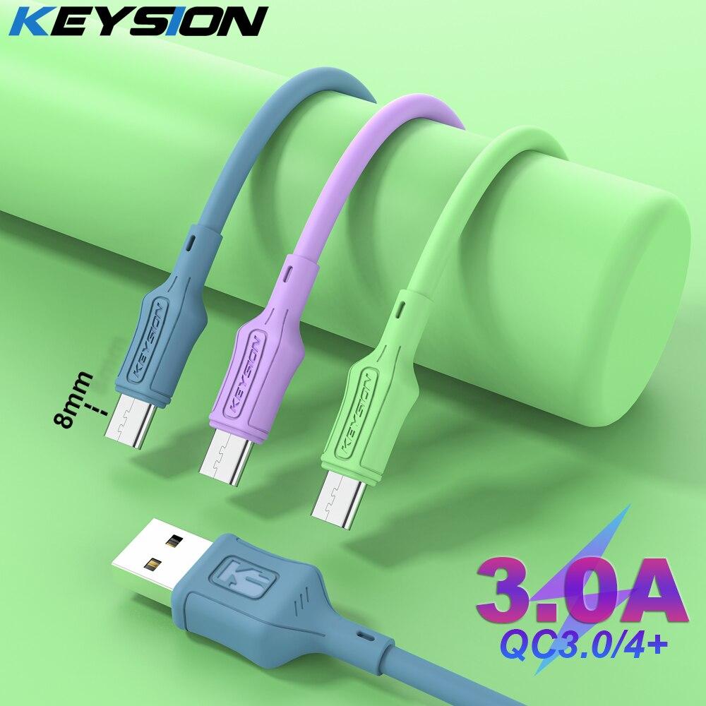 KEYSION-Cable de silicona líquida tipo C para móvil, Cable cargador de datos...