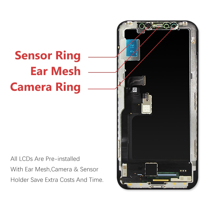 AAA+++ OLED for iPhone X XS Xs Max LCD Display for iPhone 6/6s/7/8/8plus LCD Screen Replacement Display with 3D Touch Assembly enlarge