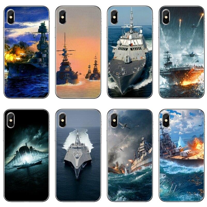 Funda de TPU buque de guerra militar Naval para Samsung Galaxy Note 10 9 8 5 4 S10E S10 Lite S9 S8 S7 S6 Edge Plus S5 S4 Mini
