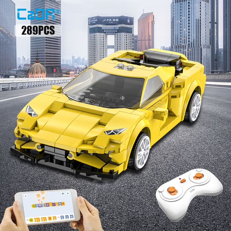 Cada City APP Programming Remote control Sports Car Model Building Blocks Technical RC Racing Car Bricks Gifts Toys for children