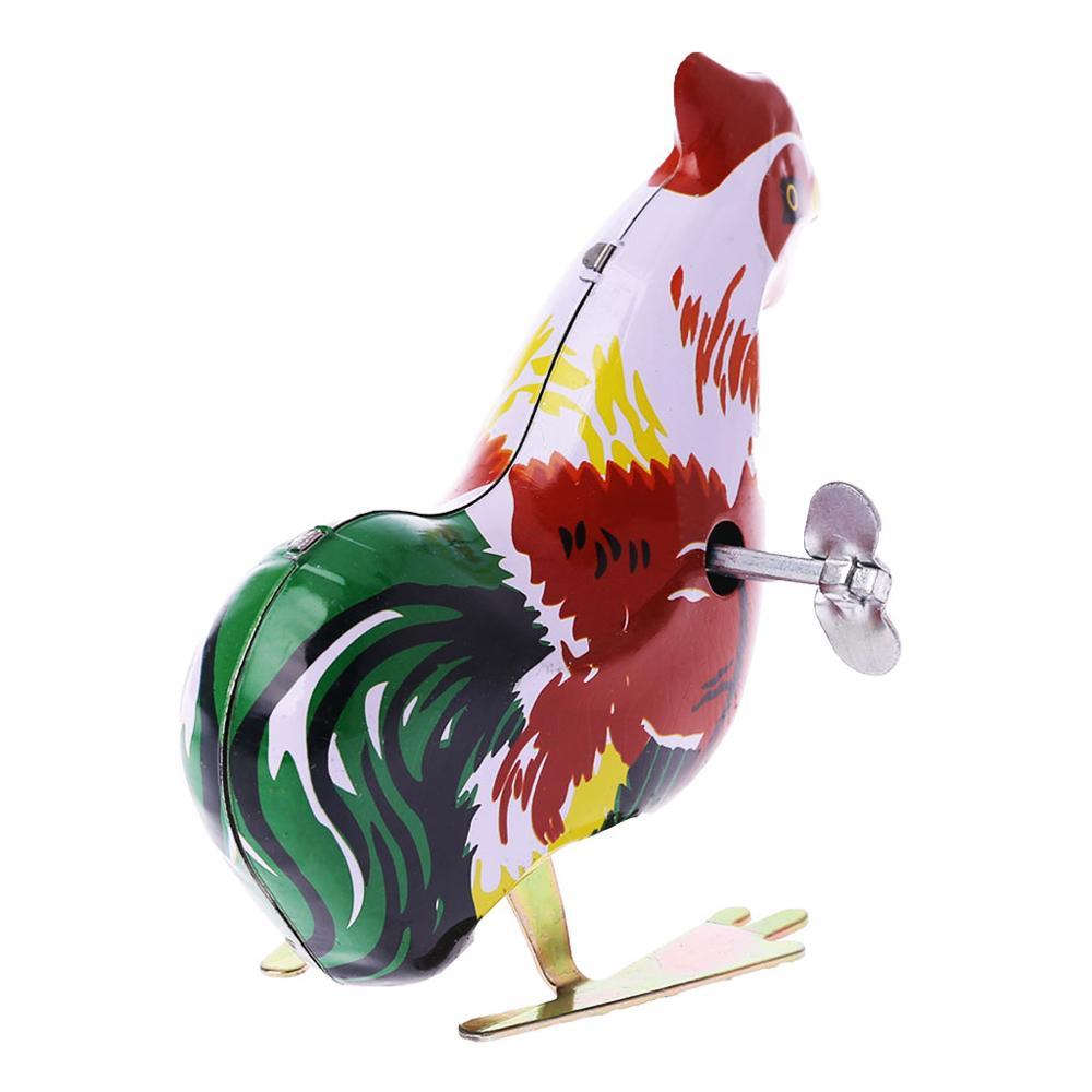 Classic Mini Clockwork Animal Cock Chick Children Wind Up Kids Educatinal Toys