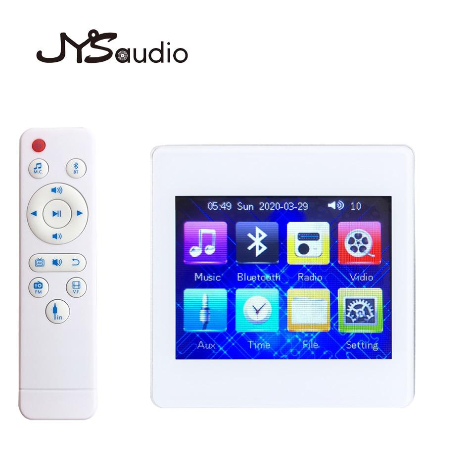 Amplificador Bluetooth con pantalla táctil 3,5 HD Mini amplificador de pared para el hogar Sistema de música de fondo profesional amplificador casero técnico