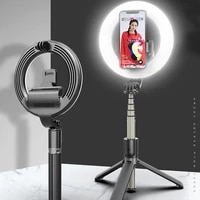 wireless bluetooth selfie stick led ring light selfie stick led ring light foldable monopods universal with remote control