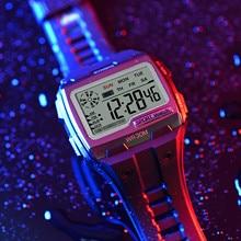 Montre-bracelet numérique de Sport pour hommes, étanche à 30M, réveil, chronographe, numérique