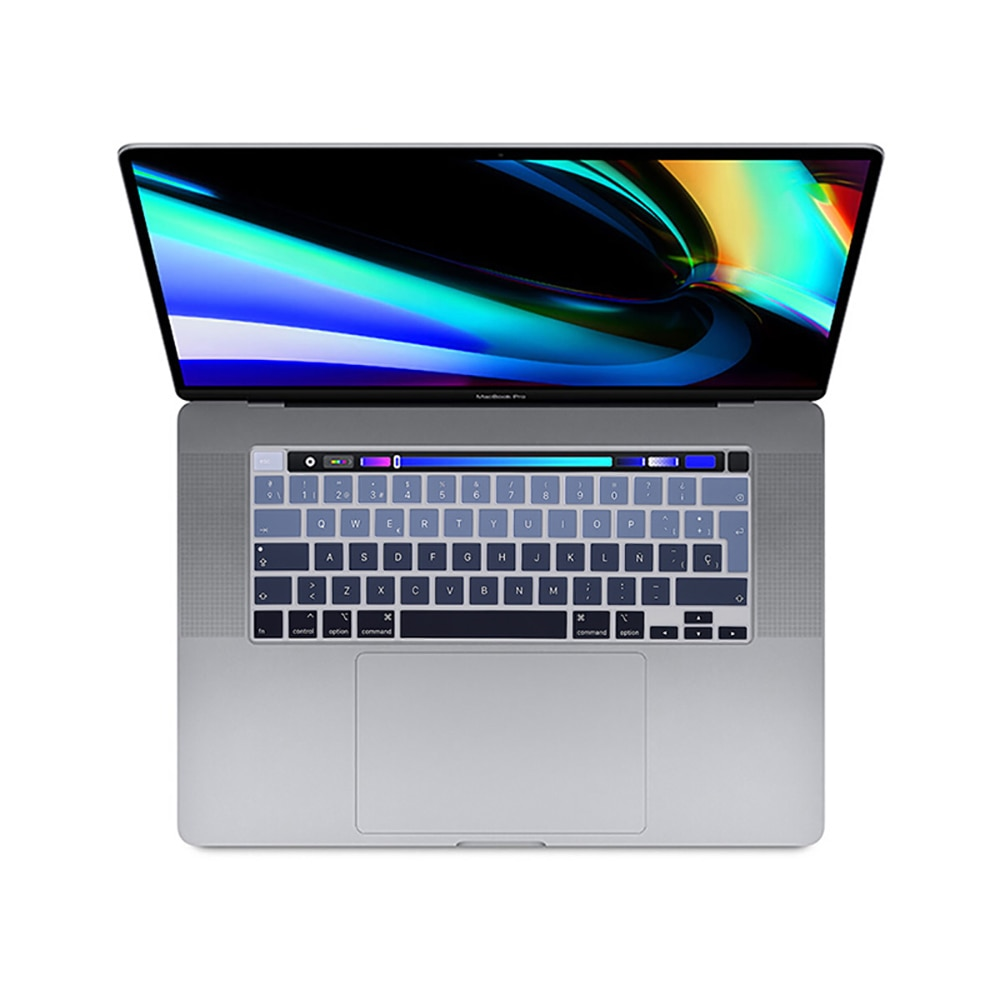 french keyboard protector for macbook retina 12 pro13 eu enter a1708 a1534 a1931 keyboard cover laptop accessories laptop film Laptop Keyboard cover For macbook Pro13 2020 protective film New Pro16 A2141 Pro13.3 A2289 A2251 silicone keyboard cover Spanish