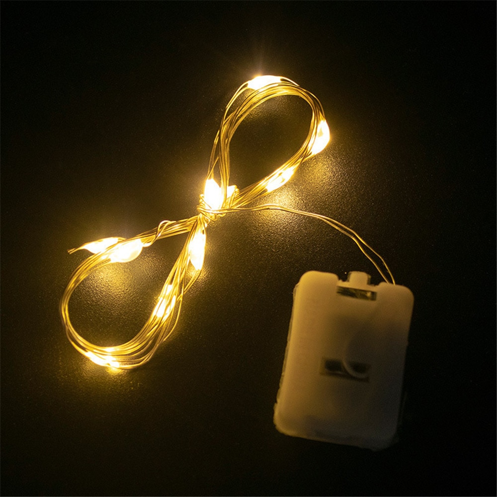 1m 2m 5m 10m 20m copper silver wire led string fairy lights holiday lighting for christmas tree garland wedding party decoration 10Pcs 1M 2M Fairy Lights Copper Wire LED String lights Flashing Holiday lighting For Christmas Garland Wedding Party Decoration