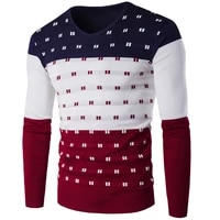 5 color striped sweater mens warm long sleeved v neck winter clothes mens fashion slim fit print pullover