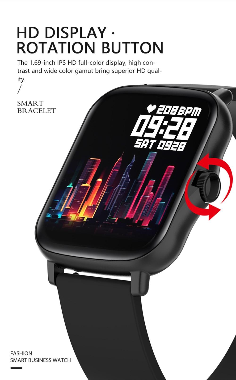 H437c9de4dc98457da331d2d78e3f1e508 COLMI P8 Plus 1.69 inch 2021 Smart Watch Men Full Touch Fitness Tracker IP67 waterproof Women GTS 2 Smartwatch for Xiaomi phone