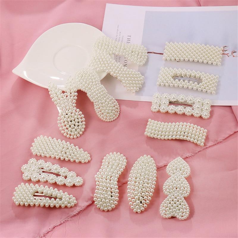 1 шт. корейские заколки для волос с жемчужинами и цветами для женщин геометрические капли в форме сердца заколка для волос аксессуары для волос ювелирные изделия